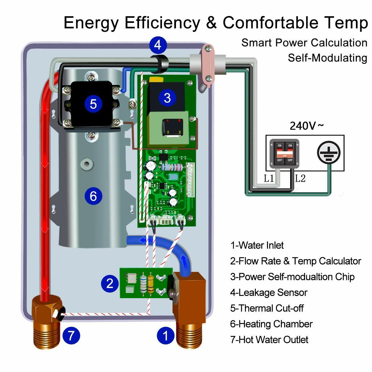 Electric Hot Water Heater Wiring Diagram from i.ebayimg.com