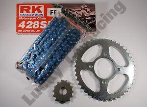 BLUE-RK-Chain-and-JT-sprocket-kit-Suzuki-EN125-2A-03-17-heavy-duty-standard-T