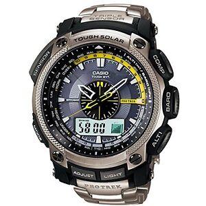 Casio-Pro-Trek-Triple-Sensor-Gents-Stainless-Steel-Bracelet-Watch-PRW-5000T-7