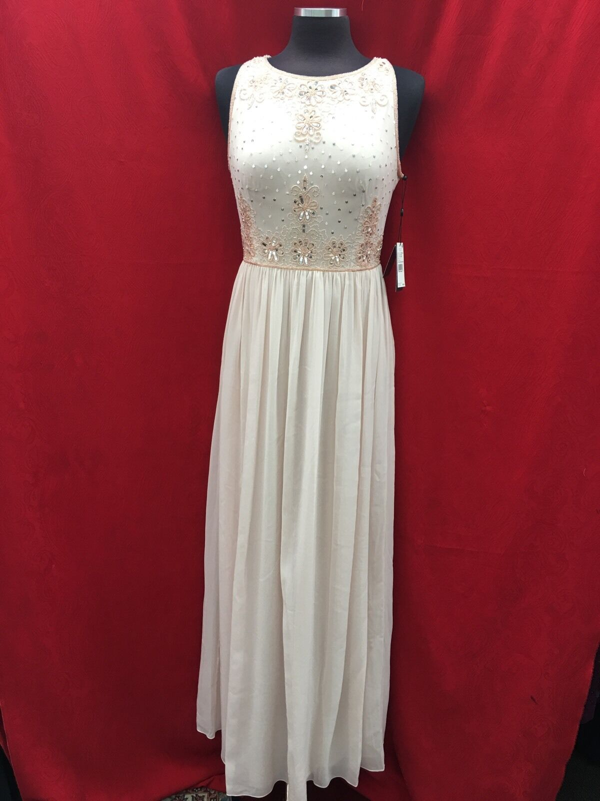 ADRIANNA PAPELL LONG GOWN NEW WITH TAG RETAIL blueSH SIZE 10
