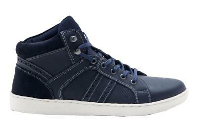 red tape manley navy lace up hi top mens leather  suede