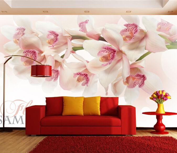 3D Jasmin Romantiqu Photo Papier Peint en Autocollant Murale Plafond Chambre Art