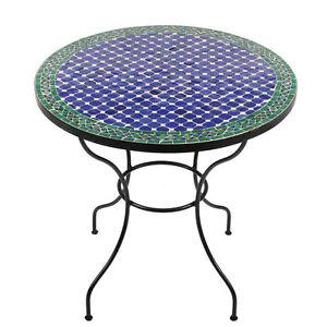 marokkanischer mosaiktisch rund orientalischer tisch esstisch gartentisch 80cm ebay. Black Bedroom Furniture Sets. Home Design Ideas