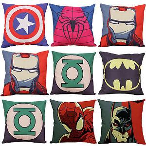 Marvel Batman Superhero Pillow Case Sofa Home Decor Waist