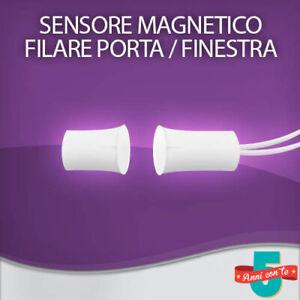 SENSORE CONTATTO FILARE MAGNETICO A SIGARETTA INCASSO PORTA / FINESTRA ANTIFURTO