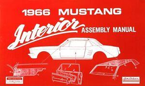 new 1966 mustang interior assembly manual shop manual illustrated rh ebay com 1966 ford mustang shop manual 1966 mustang shop manual download