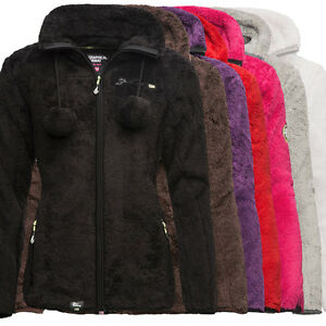 geographical norway unique warme damen fleece jacke sweat. Black Bedroom Furniture Sets. Home Design Ideas