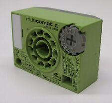 Multicomat CT3-A20/L Time Base® Plug-In Timer System, Off Delay, 0.2s-12min