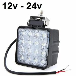 Foco-led-48W-12v-24v-6000K-3200lm-barco-jeep-4x4-camion-tractor-coche-IP67