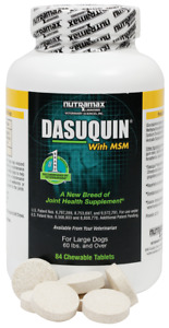 Dasuquin with MSM for Large Dogs (84 Chewable Tablets), 11/2022, NEW