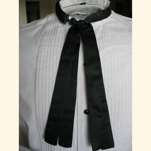 Steampunk Clothing- Men's    Mens Western Black Double Panel Doc Holliday Tie $15.75 AT vintagedancer.com