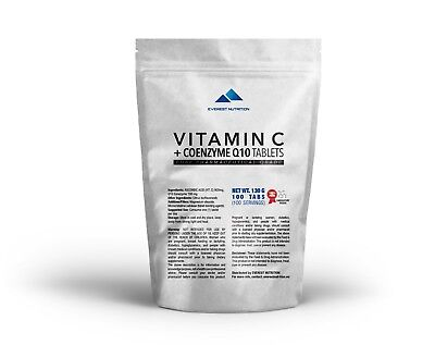 Vitamin C + Q10 Coenzym Tabletten 1000 Mg Beste Antioxidanten, ImmunitÄt, Herz