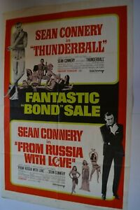 Details about James Bond 007 Thunderball / From Russia w Love Combo  Original Movie Poster
