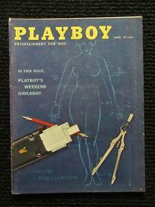 Vintage Playboy Magazine  April 1959 Flat Tight Glossy!! Nicer Book!! See Pics!!