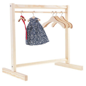 """Clothes Hanger Rack Stand Wardrobe Salon 1:6 Furniture For 11.5"""" Fashion Doll"""