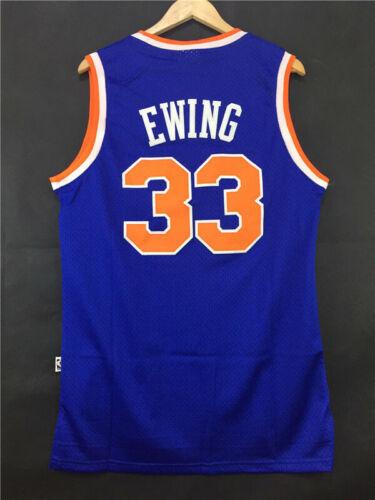 New York Knicks #33 Patrick Ewing Swingman Basketball Jersey Stitched Blue