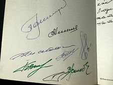 GAGARIN - 1976 photo album signed by 8 Soviet cosmonauts inc Leonov autographs
