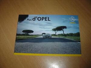 Catalogue Gamme Opel De 2007
