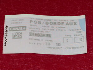 COLLECTION-SPORT-FOOTBALL-TICKET-PSG-BORDEAUX-3-MAI-1997-Champ-France