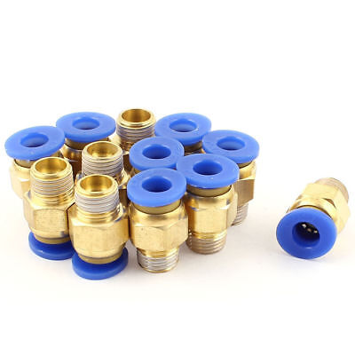 5 Pcs 3//8BSP Male Threaded to 10mm Hole Push in Pipe Coupler Fitting Connector