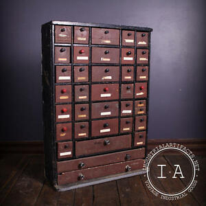 small cabinet with drawers vintage industrial depression era 36 drawer handmade 26314