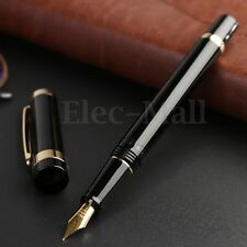 2017 Model Wing Sung 698 Piston Black Golden Fountain Pen 0.5mm Fine Softer Nib