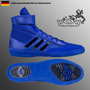 Combat Ringerschuhe Schuhe ADIDAS 5 Details Speed Shoes zu Ringen Wrestling Blau L54RAj