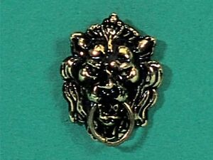 Dolls-House-Miniature-Antique-Lion-Knocker-HW115b