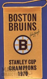 Johnny-Bucyk-Boston-Bruins-Autographed-1970-Stanley-Cup-Champions-mini-banner