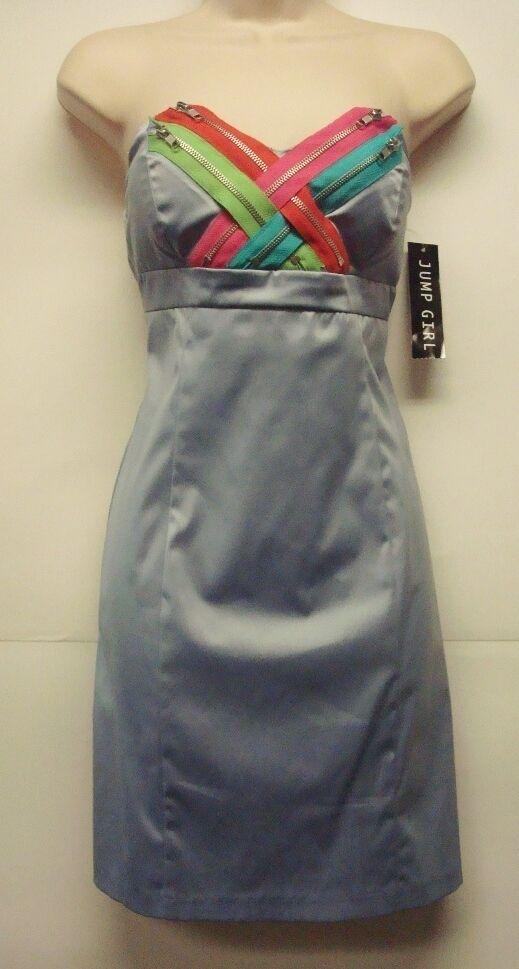 NWT Jump Girl bluee Strapless Zipper Dress Size 5 6 Unique