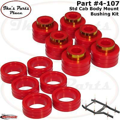 Prothane 6-107 Red Body and Cab Mount Bushing Kit 20 Piece