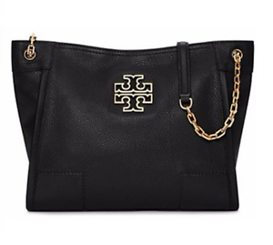Image is loading TORY-BURCH-Britten-Small-Slouchy-Tote-31159877-Black