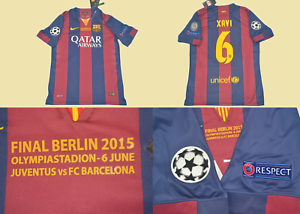 Fc Barcelona Jersey 2015 Champions League Final Model Xavi Shirt Ebay