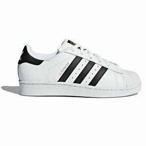 Dettagli su adidas Superstar Scarpe Bianco Bambini