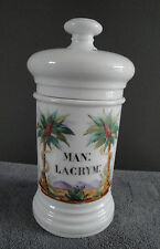 Pot à pharmacie en porcelaine de PARIS - Apothecary jar