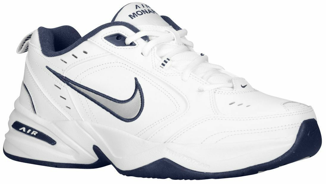 Nike Air Monarch IV White Navy For Men's New In Box 415445 102