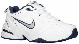 finest selection 8f84e 2e328 Image is loading Nike-Air-Monarch-IV-White-Navy-For-Men-