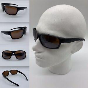 Men's Black Matte Frame Brown Lenses Sports Wrap Sunglasses 100% UV 400