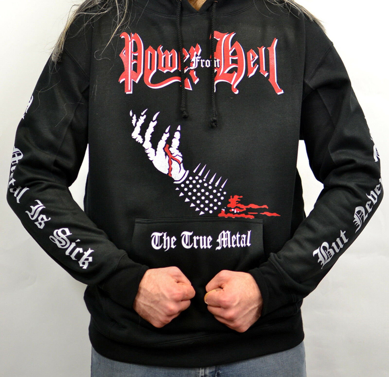 Power From Hell The True Metal 2004 Album Cover Hoodie