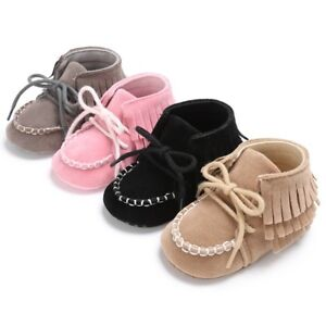 0ac960765dc Details about Toddler Baby Boy Girl Tassel Kids Sole Suede Shoes Infant  Newborn Moccasin Shoes
