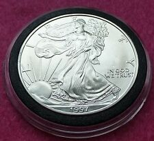1997  SILVER EAGLE  $1 ONE DOLLAR COIN - LOVELY COIN  ENCAPSULATED