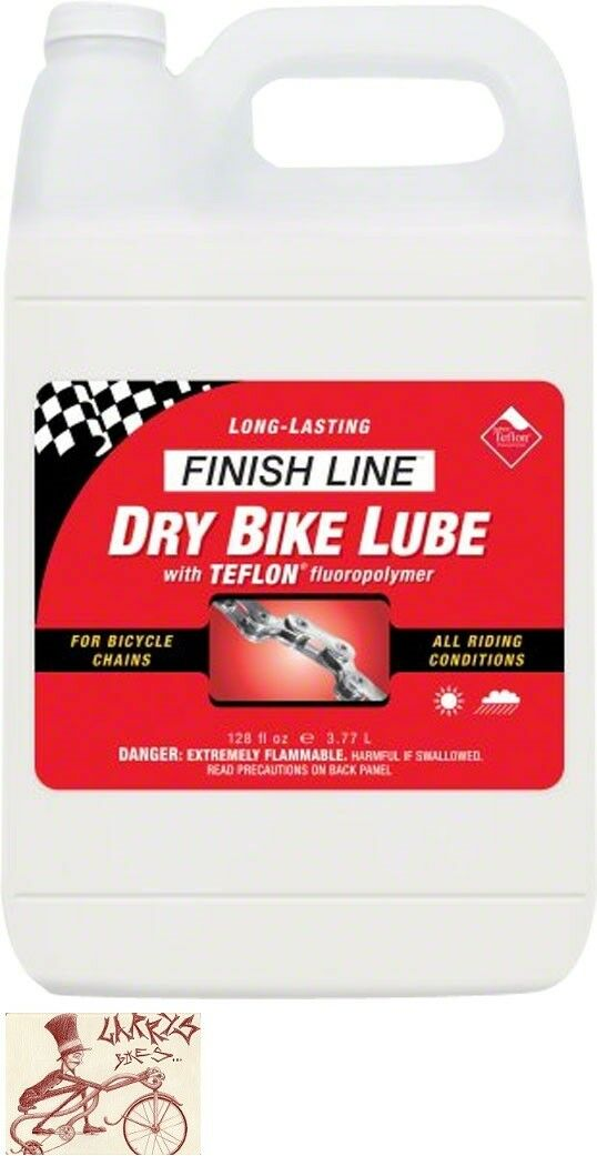 FINISH LINE DRY TEFLON BICYCLE CHAIN LUBE--1 GALLON