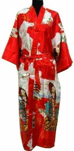 Oriental Chinese Kimono Style Dressing Gown Bath Robe Pajamas