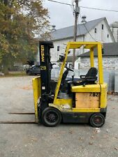 Hyster E50xm 27 5000lb Electric 4 Wheel Forklift 3 Stage Side Shift 1800 Hours