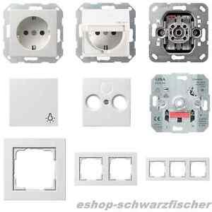 gira e2 system 55 reinwei seidenmatt schalter steckdose. Black Bedroom Furniture Sets. Home Design Ideas