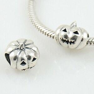 HALLOWEEN-PUMPKIN-Jack-O-039-Lantern-European-charm-bead-Solid-925-sterling-silver