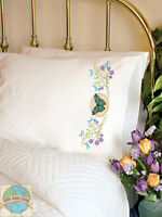 Cross Stitch Kit Dimensions Butterfly Meadow Set Of 2 Pillowcases 72-73888