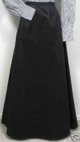 FRONTIER CLASSICS BLACK VICTORIAN WALKING SKIRT COWGIRL Steampunk Dickens SASS