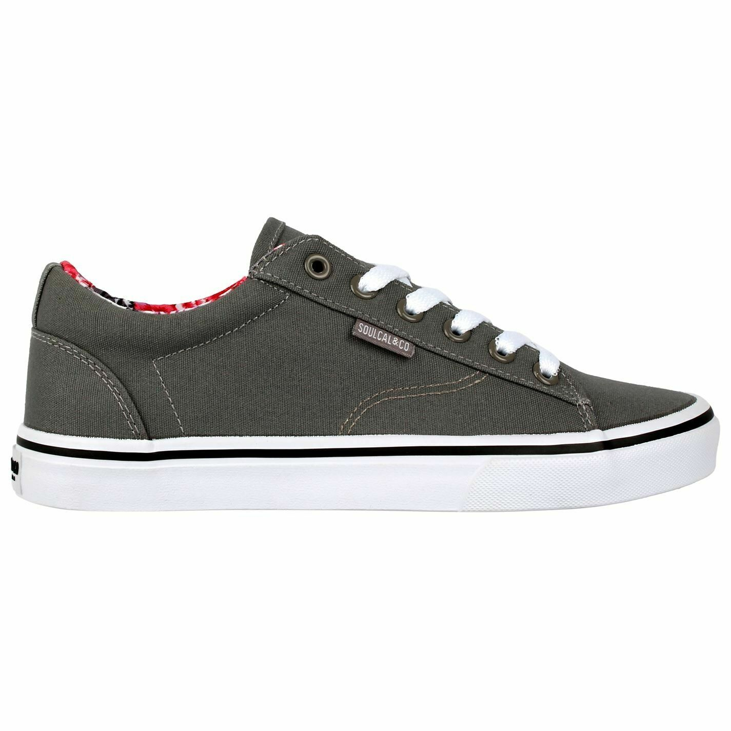 Womens SoulCal Sunniva Canvas Low Shoes Contrast Stitching New