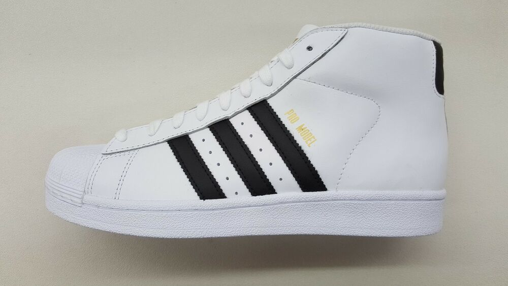 ADIDAS ORIGINALS PRO MODEL blanc noir GOLD homme Taille SNEAKERS CLASSIC S85956